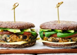 Blueboost vegetarian Burger